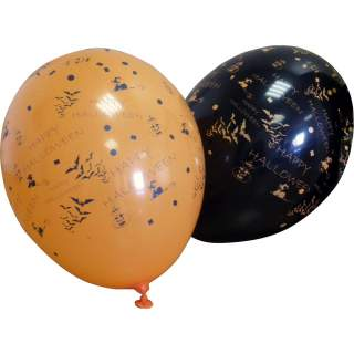 100 ballons halloween décorés