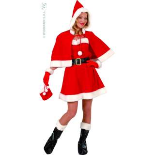 Costume Miss Santa velours courte