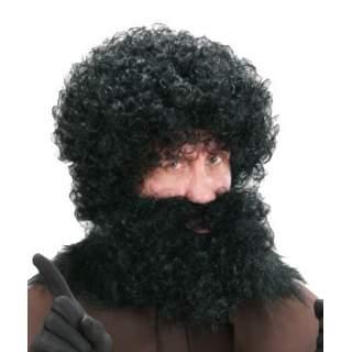 Perruque et barbe Père Fouettard