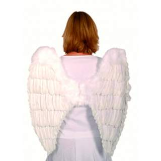 Maxi ailes d'ange en plumes blanches