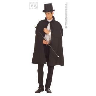 Manteau tissu pesant avec capeline noir