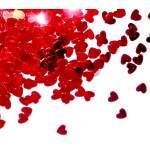 Confettis coeurs rouge
