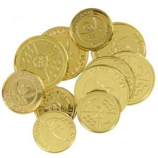 Lot de 12 pièces en or