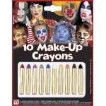 10 crayons maquillage couleurs