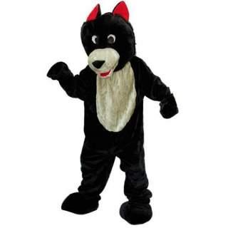 Mascotte de loup noir
