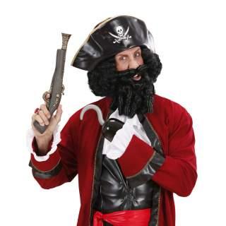 Perruque de pirate noire