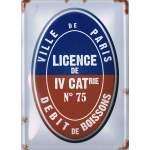Plaque métal Licence de 4ème catégorie