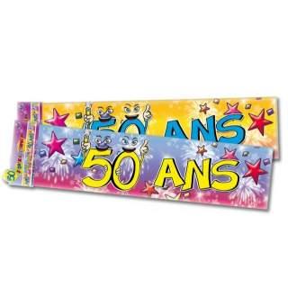 Banderole anniversaire 50 ans