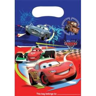 6 sacs à cadeaux Cars 2
