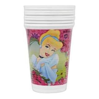 8 gobelets plastique Princesses Disney