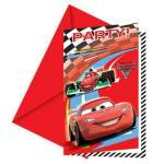 6 cartons d'invitations Cars 2