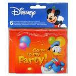 6 cartons d'invitation Disney