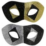 Masque domino paillettes