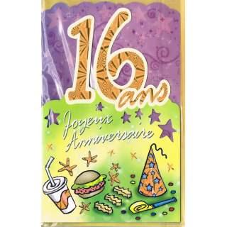 Carte Joyeux Anniversaire 16 Ans Mega Fete