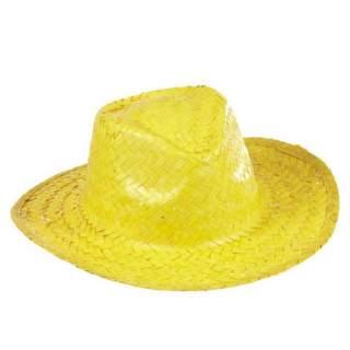 Chapeau paille Panama fluo
