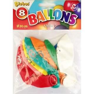 8 ballons chiffre 6