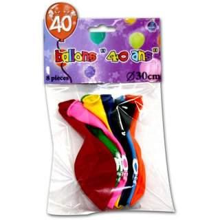 8 ballons anniversaire 40 ans