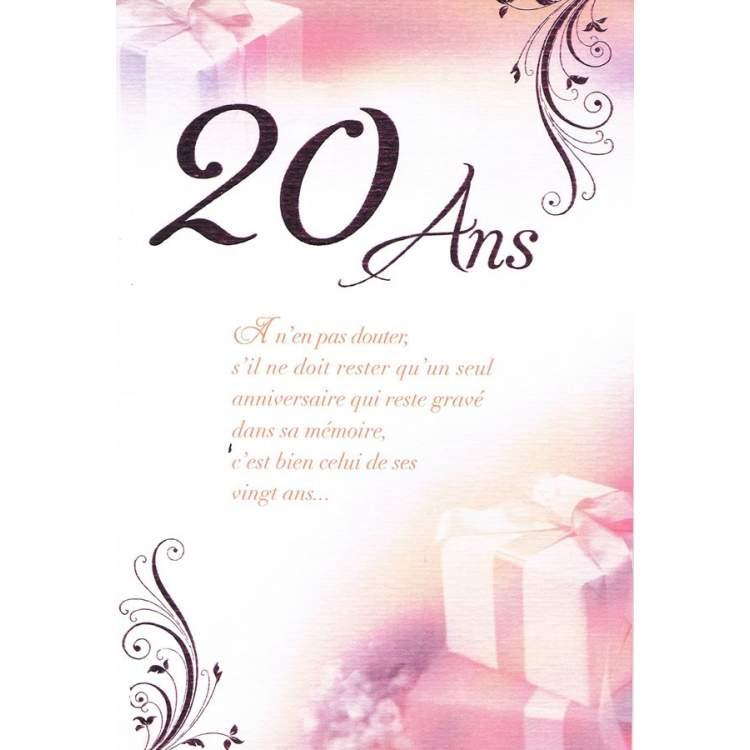 Carte anniversaire 20 ans m ga f te - Dessin anniversaire 20 ans ...