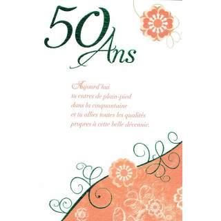 Carte Anniversaire 50 Ans Mega Fete