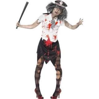 Déguisement femme policier zombie