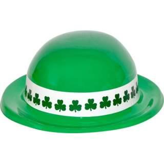 Chapeau melon plastique Saint Patrick