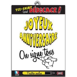 """T-shirt dédicace """"Joyeux Anniversaire"""""""