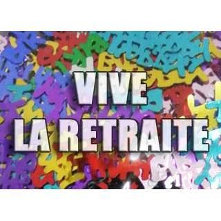 """Confettis de table """"Vive la retraite"""""""