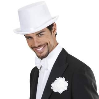 Chapeau haut de forme blanc