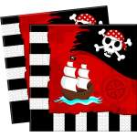 20 serviettes papier pirate