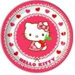 8 assiettes carton Hello Kitty